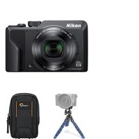 Nikon 16MP Nikon Coolpix A 1000 Digital Camera With Snapbridge, Mini Tripod And Rugged Compact Pouch