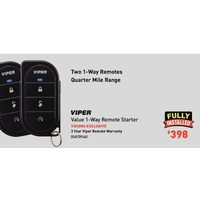 Viper Value 1-Way Remote Starter