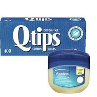Q-Tips Cotton Swabs or Vaseline Petroleum Jelly