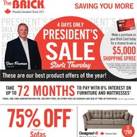 The Brick - Saving You More - President's Sale Flyer