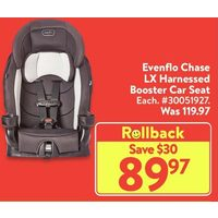 Evenflo Chase LXHarnessed Booster Car Seat