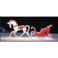 LED Lighted Horse With Sleigh