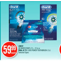 Crest 3D Whitestrips Or Oral-B Pro 1000 Power Toothbrush