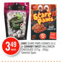 Dare Scare Paws Cookies Or Carnaby Sweet Halloween Chocolate