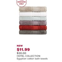 Hotel Collection Egyptain Cotton Bath Towels