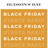 - Black Friday Starts Early Flyer