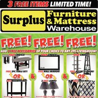 Surplus Furniture - Free! Free! Free! Flyer