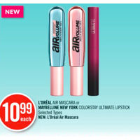 L'oreal Air Mascara Or Maybelline New York Colorstay Ultimate Lipstick