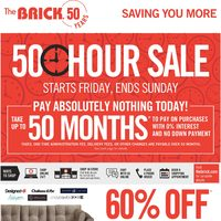 The Brick - Saving You More - 50 Hour Sale Flyer