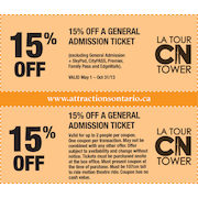 15% off a General Admission Ticket