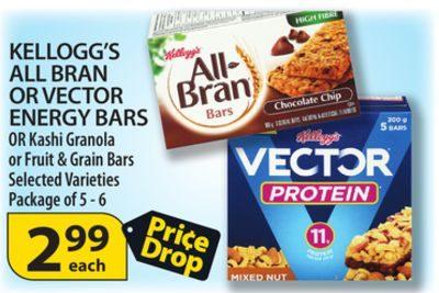 Calgary Coop: Kellogg's All Bran Or Vector Energy Bars Or