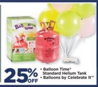 Michaels: Balloon Time, Standard Helium Tank, Balloons by Celebrate It -  RedFlagDeals.com