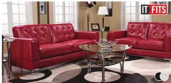 The Brick 78 Myer Leather Look Fabric Contemporary Sofa Redflagdeals