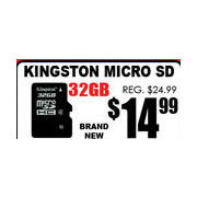 Kingston Micro SD  - $14.99