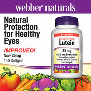 Webber Naturals Lutein 25 mg with Zeaxanthin 5 mg 140 Softgels - $4.00 off