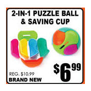 2-In-1 Puzzle Ball & Saving Cup - $6.99