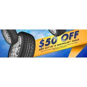 Michelin $50.00 Off Coupon