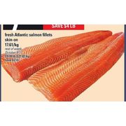 Fresh Atlantic Salmon Fillets - $7.99/lb ($4.00 off)