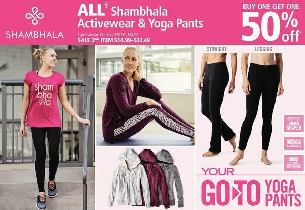 4e0618374a976 Mark's All Shambhala Activewear & Yoga Pants - $14.99-$32.49 (BOGO 50% Off  ) All Shambhala Activewear & Yoga Pants