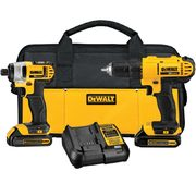 Dewalt 20V Max Lithium-Ion Drill Driver and Impact Driver Combo - $189.00