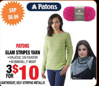 Len 039 S Mill Stores Patons Glam Stripes Yarn Redflagdeals Com