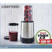 Chefman Ultimate Blender-Chopper System - Set of 6 - $29.99 (40% off)