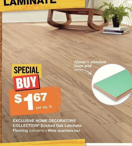 Home Depot: Home Decorators Collection Docked Oak Laminate Flooring    RedFlagDeals.com
