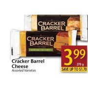 Cracker Barrel Cheese  - $3.99/270 g (Up to $1.70 off)