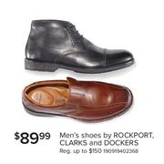 Men's Shoes by Rockport, Clarks, and Dockers - $89.99