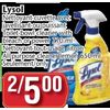 Lysol Toilet Bowl Cleaner with Bleach or Power All Purpose Cleaner Lemon - 2/$5.00