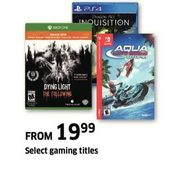 Gaming Titles - From $19.99