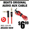 Beats Original Audio Aux Cable - $6.99
