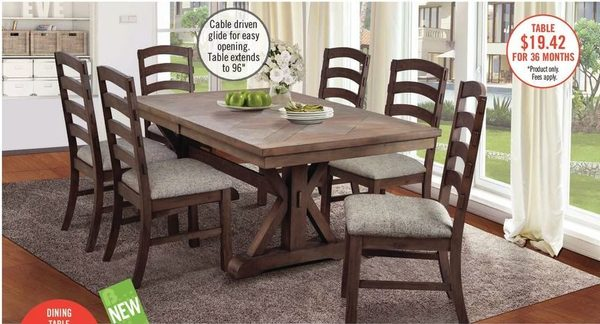 The Brick Theo Casual Dining Table Redflagdeals Com