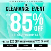 Le Chateau: Up to 80% off Clearance Styles