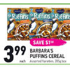 Barbara's Puffins Cereal - $3.99 ($1.50 off)