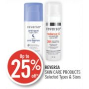Up to 25% Off Reversa Skin Care Products