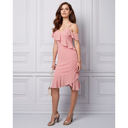 Chiffon One Shoulder Dress - $69.99 ($59.96 Off)
