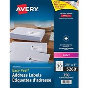 Avery Easy Peel Mailing Labels - From $14.46 (25% off)