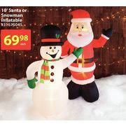 10' Santa or Snowman Inflatable - $69.98