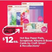 Hot Buy Paper Pads, Scrapbook Albums & Boxed Cards By Craft Smart & Recollections - $12.00