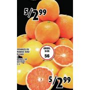 Large Oranges or Pink Grapefruit - 5/$2.99