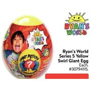 Ryan's World Series 5 Yellow Swirl Giant Egg - $49.94
