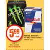 Monster, Rockstar Or Red Bull Energy Drinks - $5.99